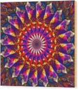 Flower Of The Mind  12- Universal Light And Color Wood Print