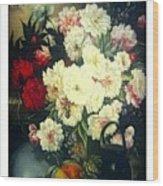 Flower Painting  Wood Print