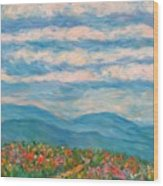 Flower Path To The Blue Ridge Wood Print