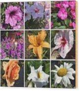 Flower Pattern Wood Print
