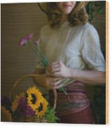 Flower Peddler Wood Print