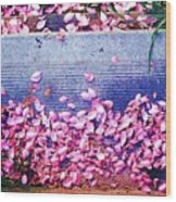 Flower Petals Saturated Ae Wood Print