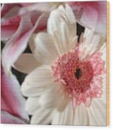 Flower Pink-white Wood Print