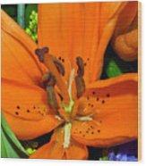 Flower Pistil Wood Print