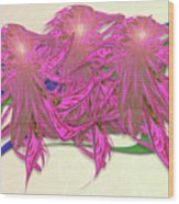 Flower Plant Wood Print