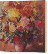 Flower Pot Wood Print