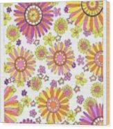 Flower Power 1 Wood Print
