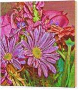 Flower Power 2 Wood Print
