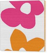Flower Power 4- Art By Linda Woods Wood Print