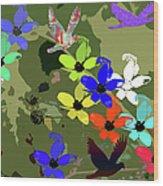 Flower Power 48 Wood Print