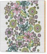 Flower Power 5 Wood Print
