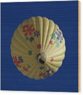 Flower Power Balloon Wood Print