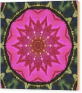 Flower Power Kaleidoscope Artifact Wood Print