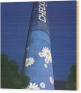 Flower Power Tower Wood Print