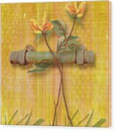 Flower Pull Wood Print