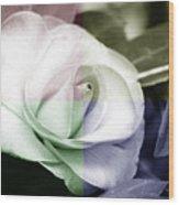Flower Quadrant Colors Wood Print