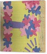 Flower Scene Wood Print