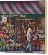 Flower Shop - Ny - Chelsea - Hudson Flower Shop  Wood Print
