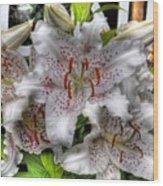 Flower Shop Lillies Wood Print
