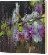 Flower Shop Window 1 Wood Print