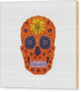 Flower Skull 1 Wood Print