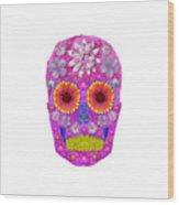 Flower Skull 2 Wood Print