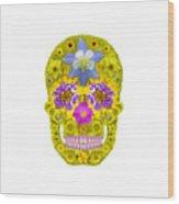 Flower Skull 3 Wood Print