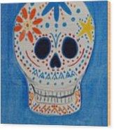 Flower Skull Wood Print