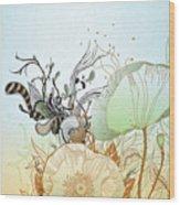 Flower Sol Wood Print