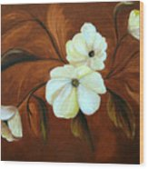 Flower Study Wood Print