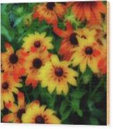Flower Sunshine Wood Print