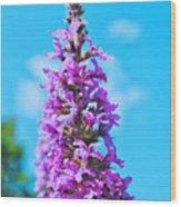 Flower Tower Wood Print