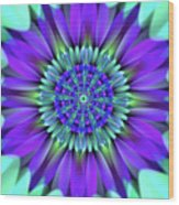 Flower Translucent 19 Wood Print