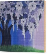 Flower Tree  Wood Print