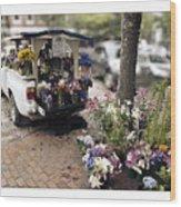 Flower Truck On Nantucket Wood Print