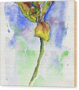 Flower Two Wood Print