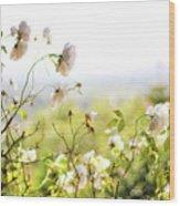 Flower Valley Wood Print