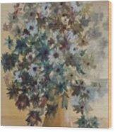 Flower Vase Original Watercolor Wood Print