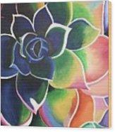 Flower Vibes Wood Print