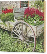 Flower Wagon Wood Print