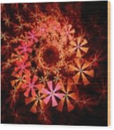 Flower Whirlpool Wood Print