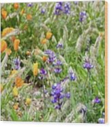Flower Whispers Wood Print