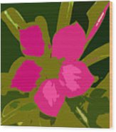Flower Work Number 17 Wood Print