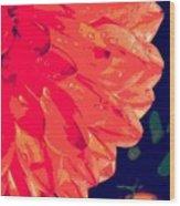 Flower5 Wood Print