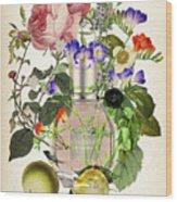 Flowerbomb Notes 3 - By Diana Van  Wood Print