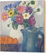 Flowered Love Wood Print