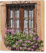 Flowered Window # II Wood Print