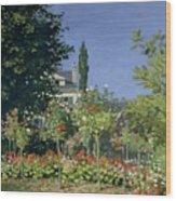 Flowering Garden At Sainte-adresse Wood Print