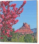Flowering Tree - Sedona Red Rock Wood Print