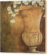 Flowering Urn Wood Print